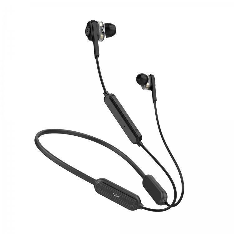 Uiisii BN60 Necklace sports headphone BLACK 2.jpg