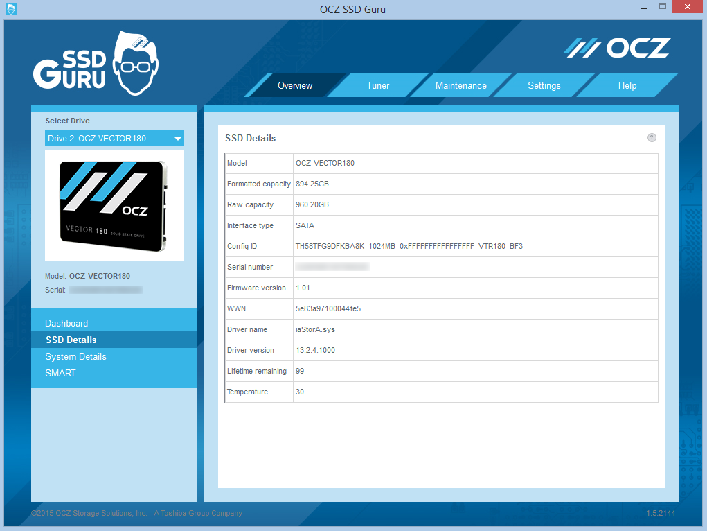 SSD Guru SSD Details