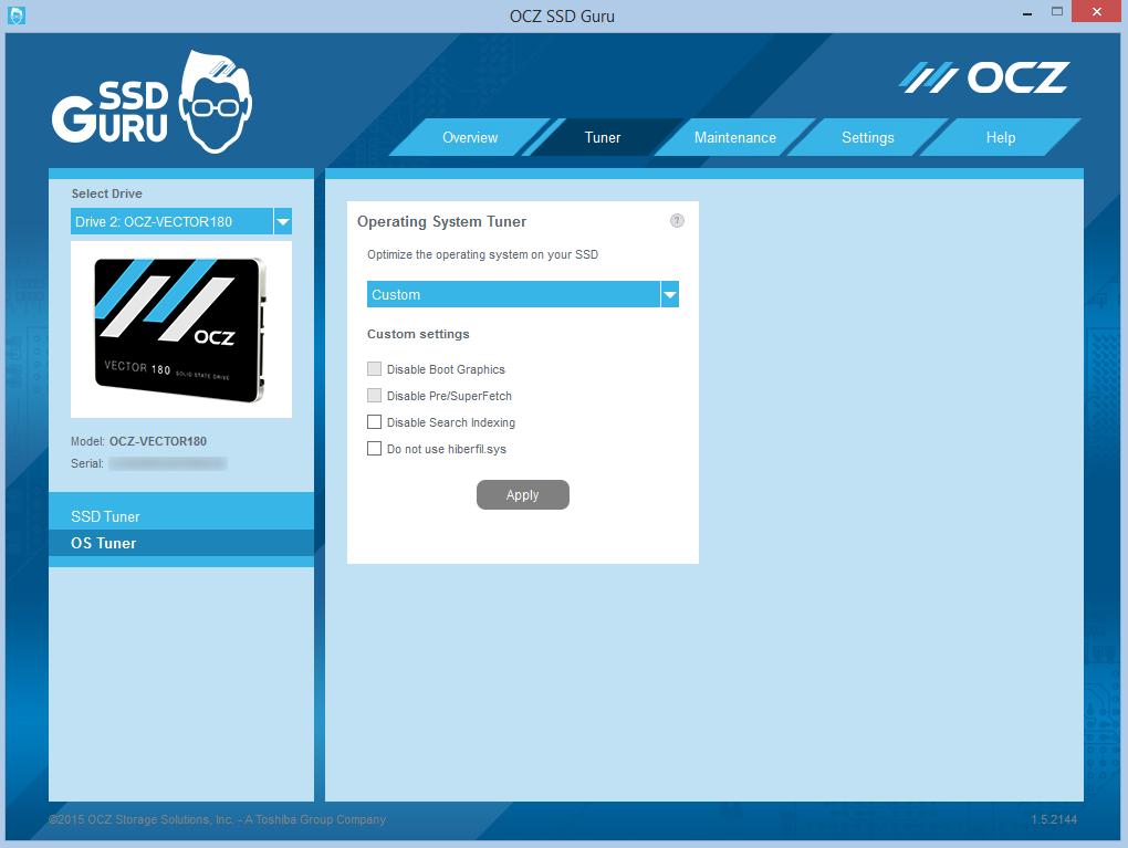 SSD Guru Tuner OS