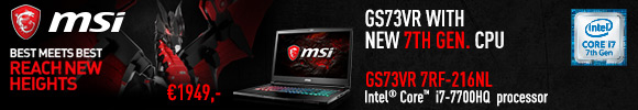 MSI GS73VR Gaming Notebook