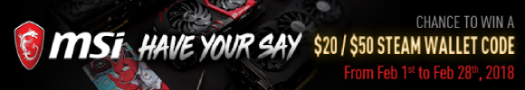MSI Have Your Say Steam Wallet Code