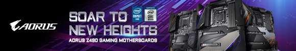 Gigabyte Aorus Z490 Motherboards