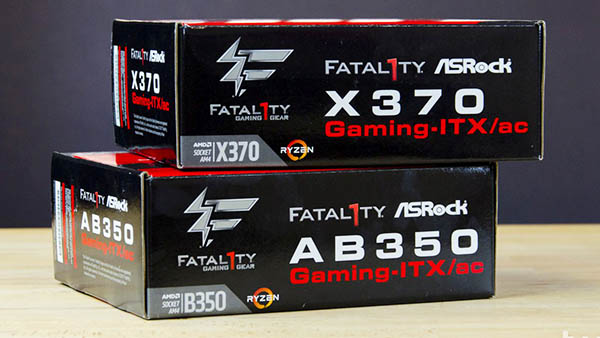 ASRock AB350 & X370 Fatal1ty Gaming ITX/ac Review